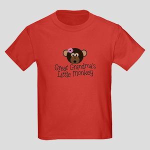 Great Grandma's Monkey G Kids Dark T-Shirt