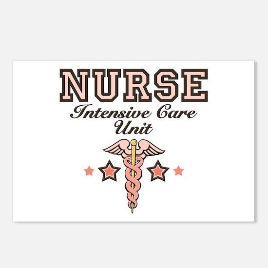 ICU Nurse Caduceus Postcards (Package of 8)