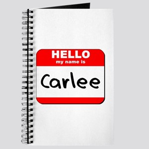 Hello my name is Carlee Journal