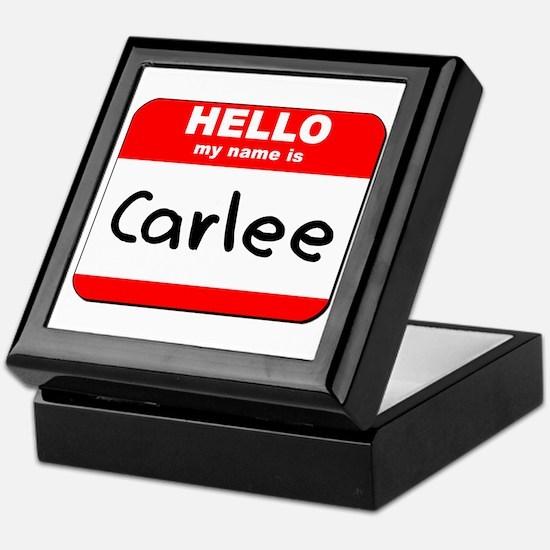 Hello my name is Carlee Keepsake Box