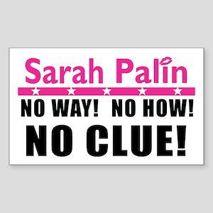 Palin: No Clue! Rectangle Sticker