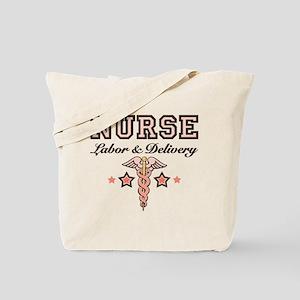 Labor & Delivery Nurse Caduceus Tote Bag