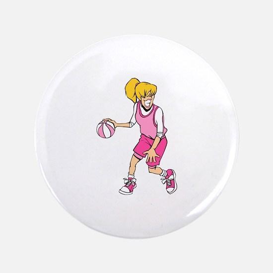 """Basketball Girl 3.5"""" Button"""