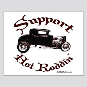 Small Poster-SUPPORT HOT RODDIN
