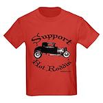 Kids Dark T-Shirt-SUPPORT HOT RODDIN