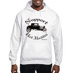 Hooded Sweatshirt-SUPPORT HOT RODDIN