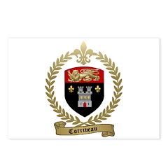 CORRIVEAU Family Crest Postcards (Package of 8)