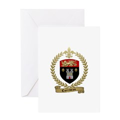 CORRIVEAU Family Crest Greeting Card