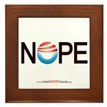 """NOPE"" Framed Tile"