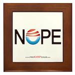 """""""NOPE"""" Framed Tile"""