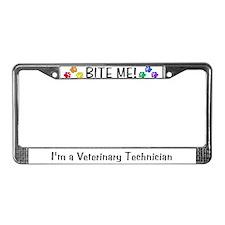 License Plate Frame - BITE ME! design