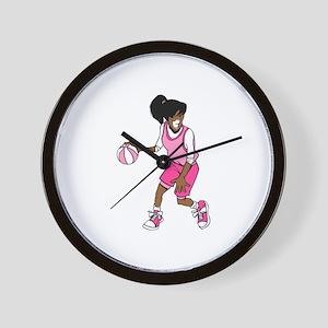 Basketball Girl Wall Clock