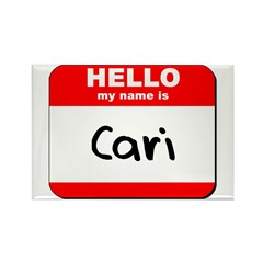 Hello my name is Cari Rectangle Magnet (10 pack)