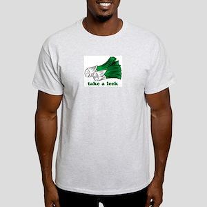 """""""Take a Leek"""" Ash Grey T-Shirt"""
