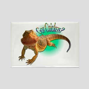 Bearded Dragon Got Crickets 5 Rectangle Magnet