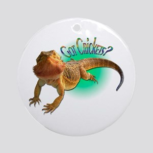 Bearded Dragon Got Crickets 5 Ornament (Round)