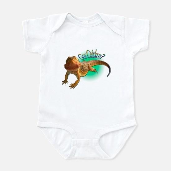 Bearded Dragon Got Crickets 5 Infant Bodysuit