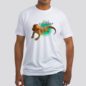 Bearded Dragon Got Crickets 5 Fitted T-Shirt