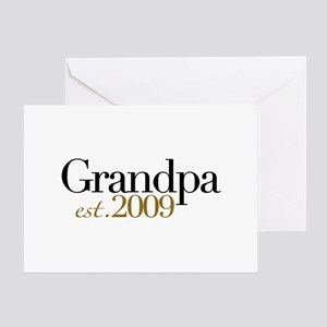 New Grandpa 2009 Greeting Card