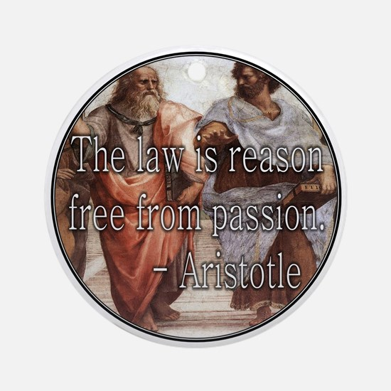 The Law Is Ornament (Round)
