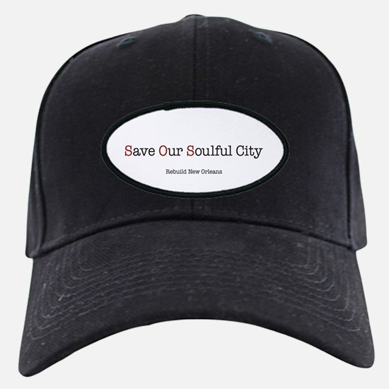"""""""Save Our Soulful City"""" black cap"""