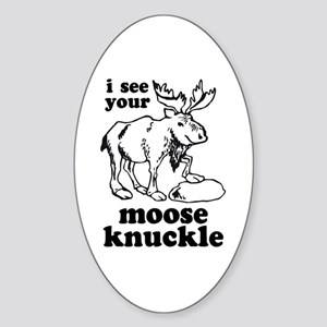 Moose Knuckle Oval Sticker