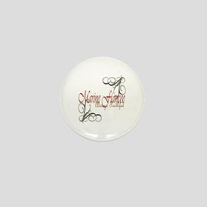 Swirl Marine Fiancee Mini Button