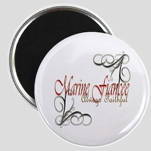 Swirl Marine Fiancee Magnet Magnets