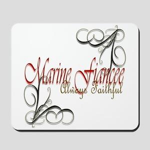 Swirl Marine Fiancee Mousepad