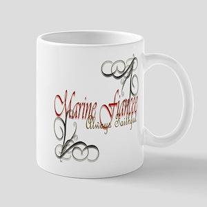 Swirl Marine Fiancee Mug