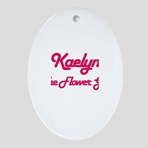 Kaelyn - Flower Girl Oval Ornament