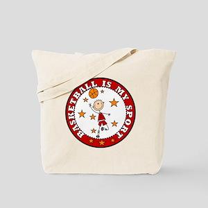 Basketball My Sport Tote Bag