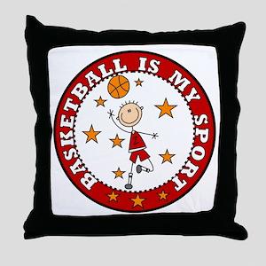 Basketball My Sport Throw Pillow