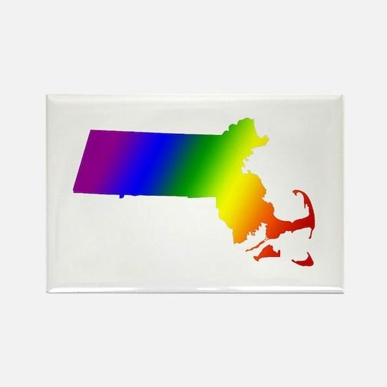 Massachusetts Gay Pride Rectangle Magnet
