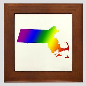 Massachusetts Gay Pride Framed Tile