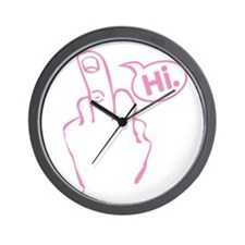 Hi! Middle Finger Wall Clock