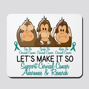 See Speak Hear No Cervical Cancer 2 Mousepad
