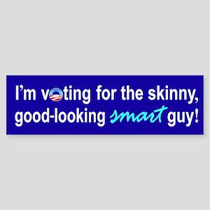 Skinny smart guy Bumper Sticker