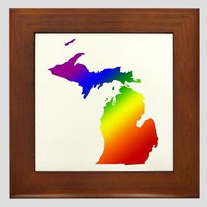 Michigan Gay Pride Framed Tile