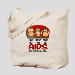 See Speak Hear No AIDS 1 Tote Bag