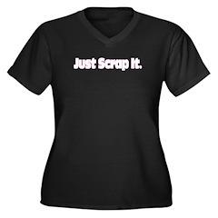 Just Scrap It Women's Plus Size V-Neck Dark T-Shir