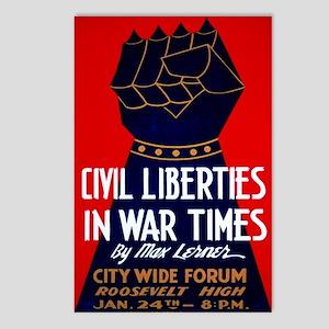 Civil Liberties In War Time Postcards (Package of