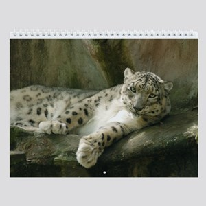 Snow Leopard B004 Wall Calendar