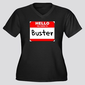 Hello my name is Buster Women's Plus Size V-Neck D