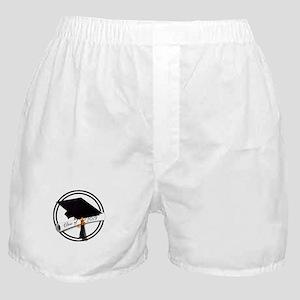 Class of 2019 - Grad Cap Diploma Blac Boxer Shorts