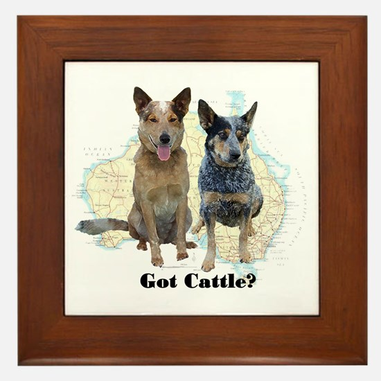 Got Cattle? Framed Tile