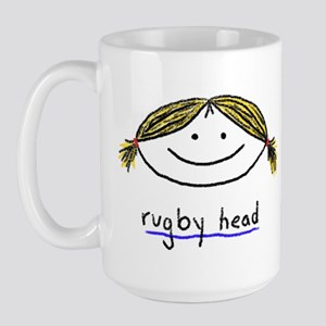 rugby head Large Mug