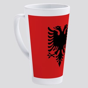Flag of Albania 17 oz Latte Mug