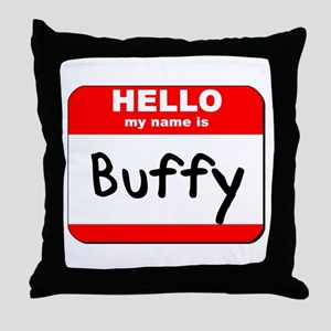 Hello my name is Buffy Throw Pillow