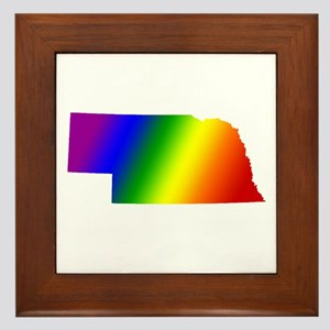 Nebraska Gay Pride Framed Tile